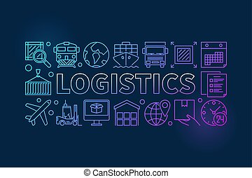 Logistics colorful illustration