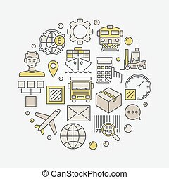 Logistics colorful illustration