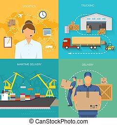 Logistics Flat Compositions