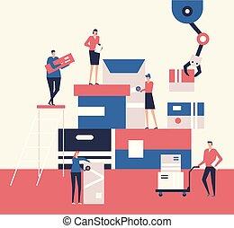 Logistics - flat design style illustration