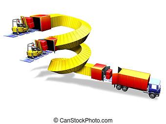 Logistics forklift truck