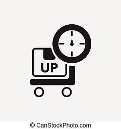 logistics freight weight icon