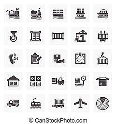 logistics icon - Logistics icon sets.