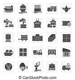 logistics icon - Logistics icons sets.