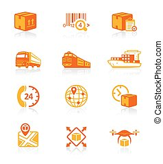 Logistics icons || JUICY series