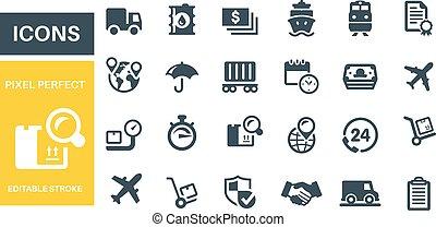 Logistics Icons vector design