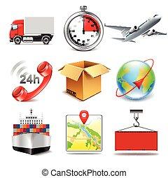 Logistics icons vector set