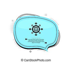 Logistics network icon. Parcel tracking. Vector - Logistics ...