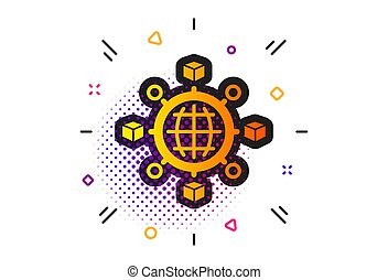 Logistics network icon. Parcel tracking. Vector - Parcel ...