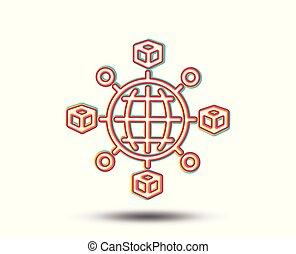Logistics network line icon. Parcel tracking. - Logistics ...