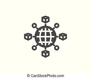 Logistics network simple icon. Parcel tracking. - Logistics ...