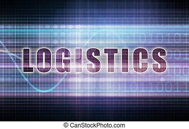 Logistics on a Tech Business Chart Art