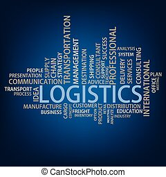Logistics Tag Cloud, vector