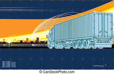 logistics theme background Available EPS-8 vector format...