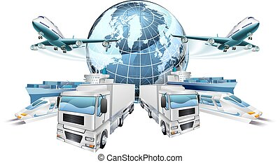 Logistics Transport Concept - Logistics transport concept of...