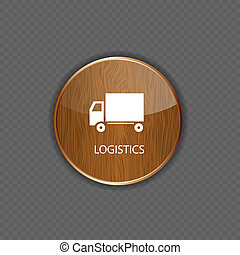Logistics wood application icons