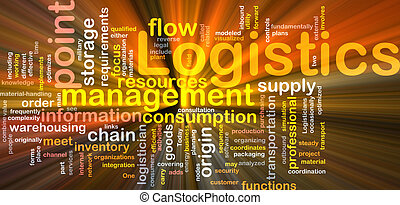 Logistics word cloud glowing - Word cloud concept...