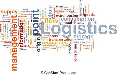 Logistics word cloud - Word cloud concept illustration of...