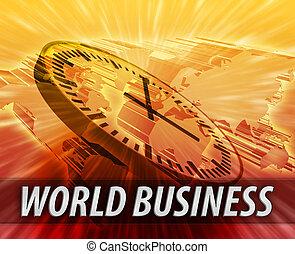 logistiek, internationaal, concept, management