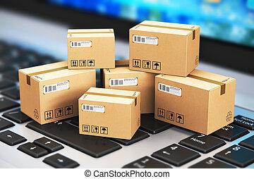 logistik, begreb, forsendelse
