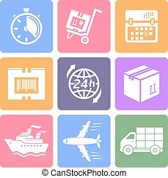 Logistik flat icons