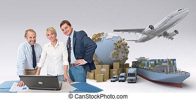 logistik, professionals, globale