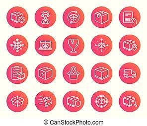 logistique, camion, expédition, icons., delivery.