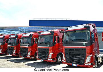 logistique, camionnage