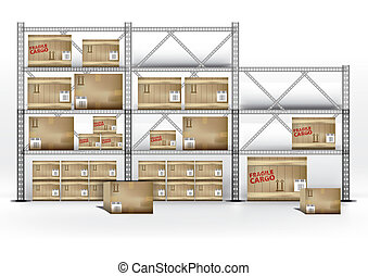 logistique, cargaison, |