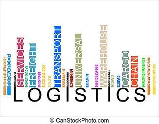 logistique, coloré, barcode, texte