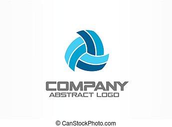 logistique, company., réseau, technologie, business, résumé, logotype, idea., conception, identité, logo, distribution, constitué, element.