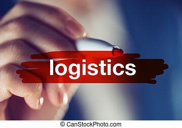 logistique, concept, business