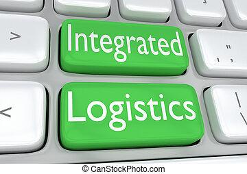 logistique, concept, intégré
