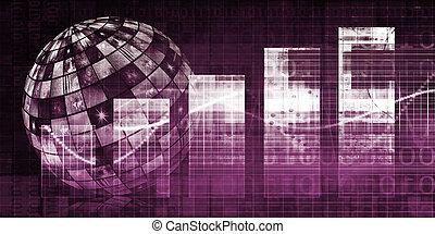 logistique, concept, technologie