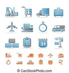 logistique, expédition, transport