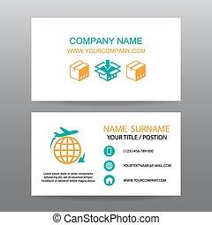 logistique, fond, vecteur, carte, business