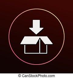 logistique, fret, icône