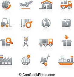 logistique, --, industrie, graphite
