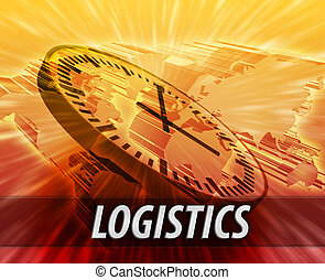 logistique, international, concept, gestion