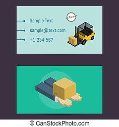 logistique, livraison, carte, gabarit, business