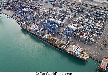 logistique, port