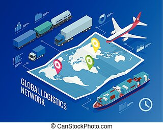 logistique, réseau global