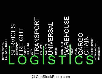 logistique, texte, barcode