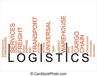 logistique, texte, barcode, coloré
