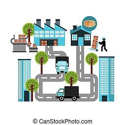 logistique, transport