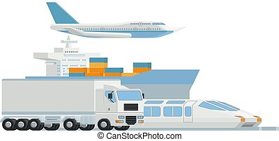 logisty, ładunek, sztuka, fracht, dystrybutor, przewóz