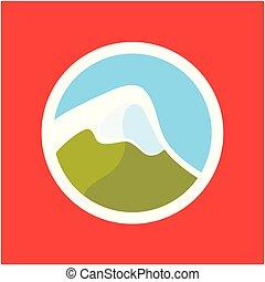 logo, à, alpes suisses