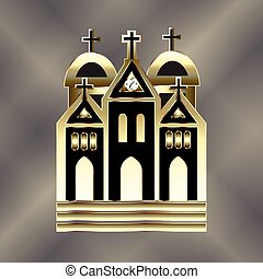 logo, église, icône
