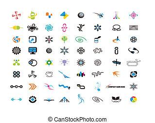 logo, éléments, conception, concepteur