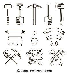 logo, éléments, conception